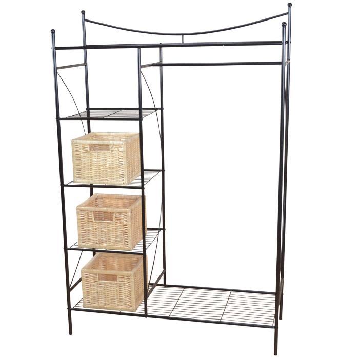 Metall garderobe h147 garderobenst nder kleiderschrank for Garderoben set metall