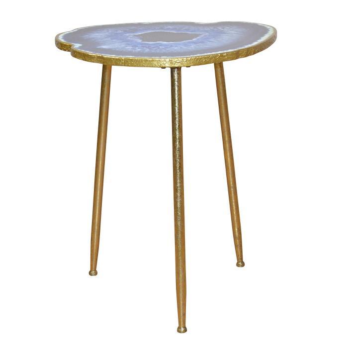 beistelltisch h176 telefontisch shisha tisch kaffeetisch metallgestell achatoptik 61x50x45cm. Black Bedroom Furniture Sets. Home Design Ideas