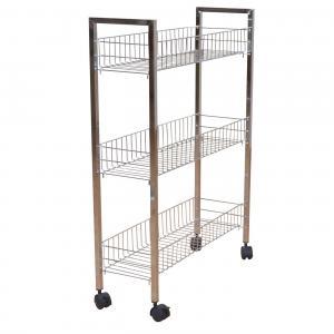 metallregal h24 k chenregal regal verchromt auf rollen 81x56x20cm. Black Bedroom Furniture Sets. Home Design Ideas