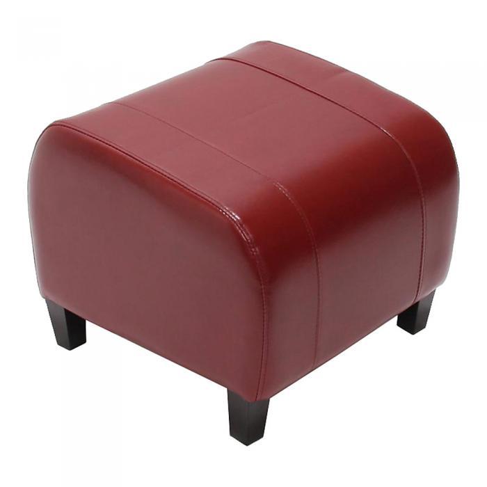 hocker sitzw rfel sitzhocker emmen leder 37x45x47 cm rot. Black Bedroom Furniture Sets. Home Design Ideas