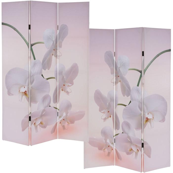 foto paravent t233 paravent raumteiler trennwand 180x120cm orchidee. Black Bedroom Furniture Sets. Home Design Ideas