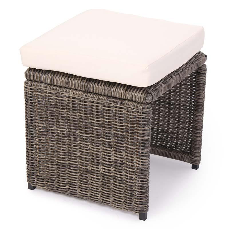 modulares luxus alu sofa romv rundes poly rattan grau. Black Bedroom Furniture Sets. Home Design Ideas