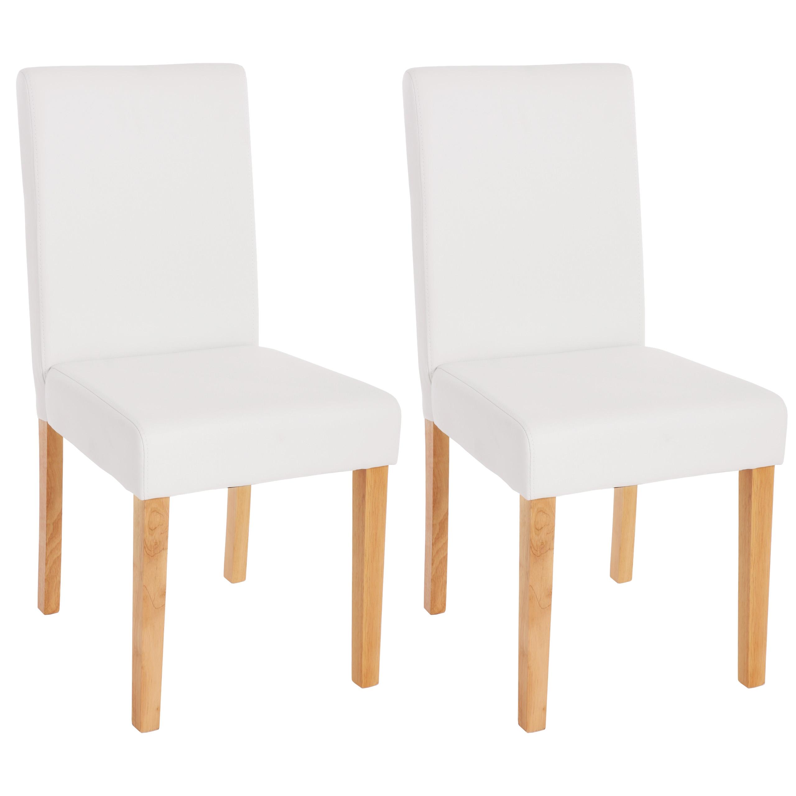 2x esszimmerstuhl stuhl lehnstuhl littau kunstleder for Stuhl weiss kunstleder
