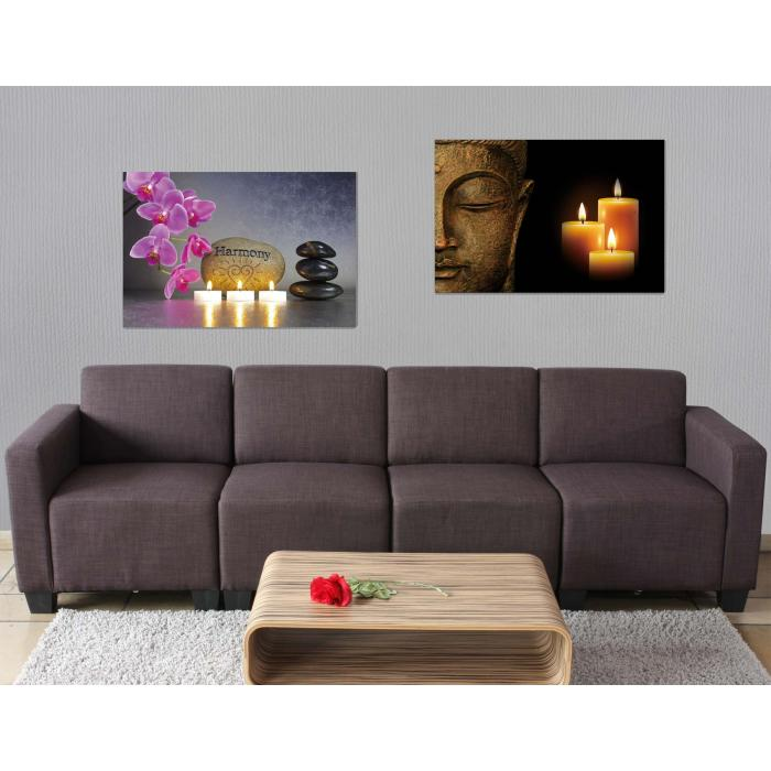 2x led bild mit beleuchtung leinwandbild leuchtbild wandbild 60x40cm timer buddha flackernd. Black Bedroom Furniture Sets. Home Design Ideas