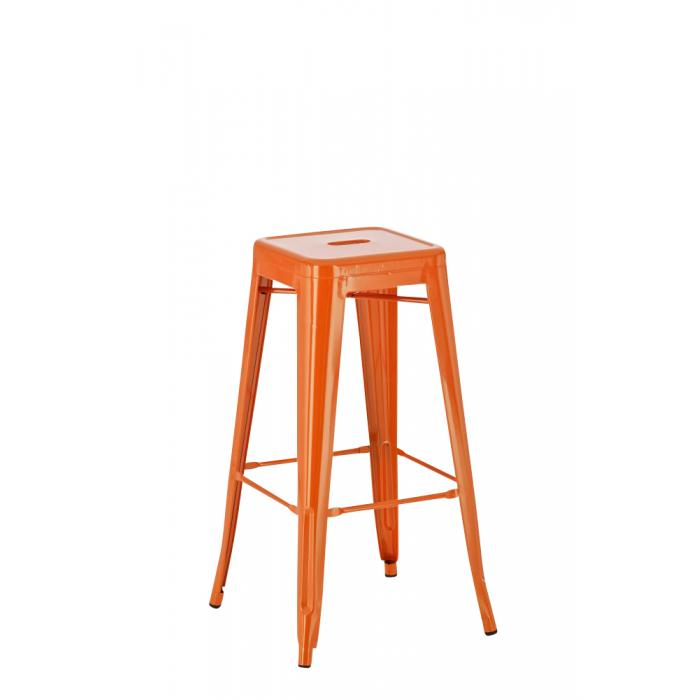 Barhocker CP148, Barstuhl ~ Metall, orange