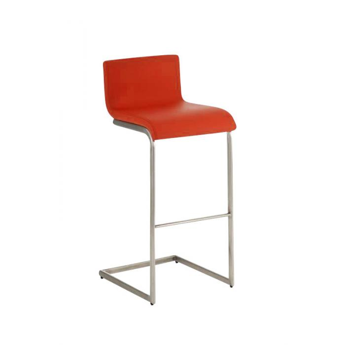 Barhocker cp174 barstuhl kunstleder orange for Barhocker orange