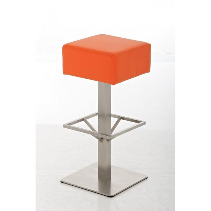 Barhocker cp139 barstuhl kunstleder 76cm orange for Barhocker orange