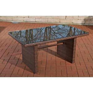 poly rattan gartentisch cp314 tisch esszimmertisch braun meliert. Black Bedroom Furniture Sets. Home Design Ideas