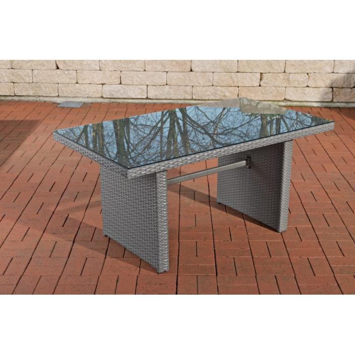 poly rattan gartentisch cp314 tisch esszimmertisch grau. Black Bedroom Furniture Sets. Home Design Ideas