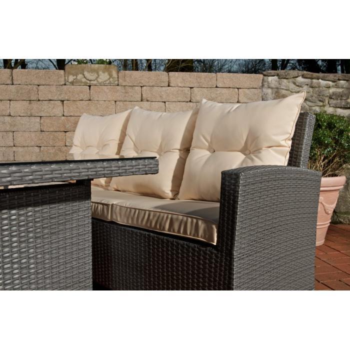 gartenbar cp464 gartengarnitur sitzgruppe poly rattan grau. Black Bedroom Furniture Sets. Home Design Ideas