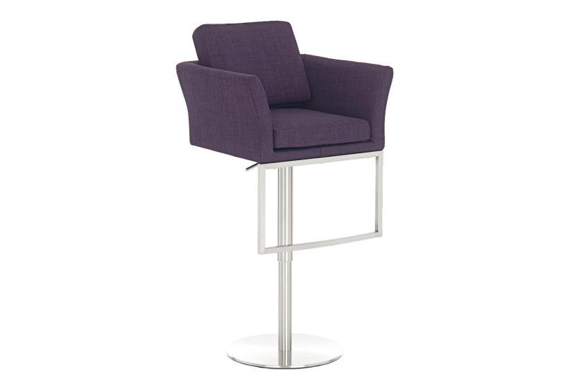 barhocker cp126 barstuhl textil lila. Black Bedroom Furniture Sets. Home Design Ideas