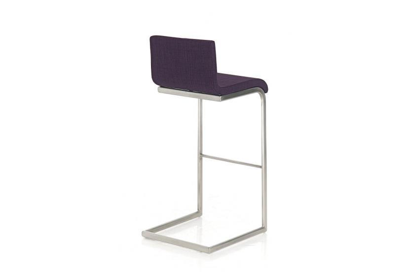 barhocker cp174 barstuhl textil lila. Black Bedroom Furniture Sets. Home Design Ideas
