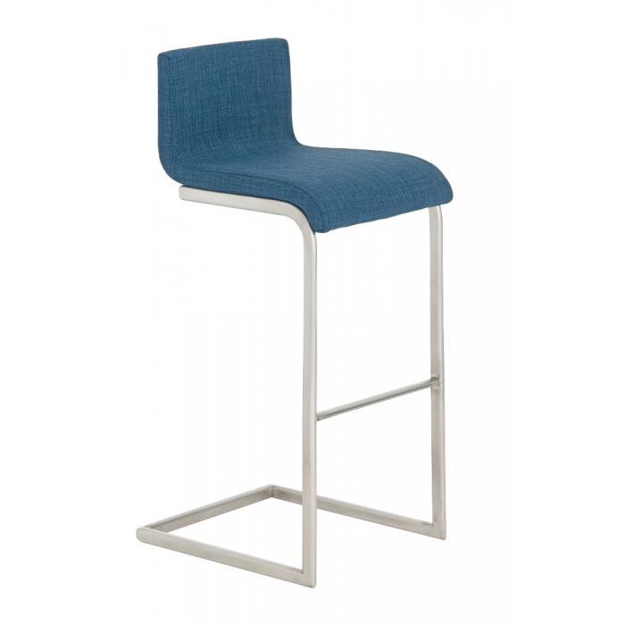 barhocker cp174 barstuhl textil blau. Black Bedroom Furniture Sets. Home Design Ideas