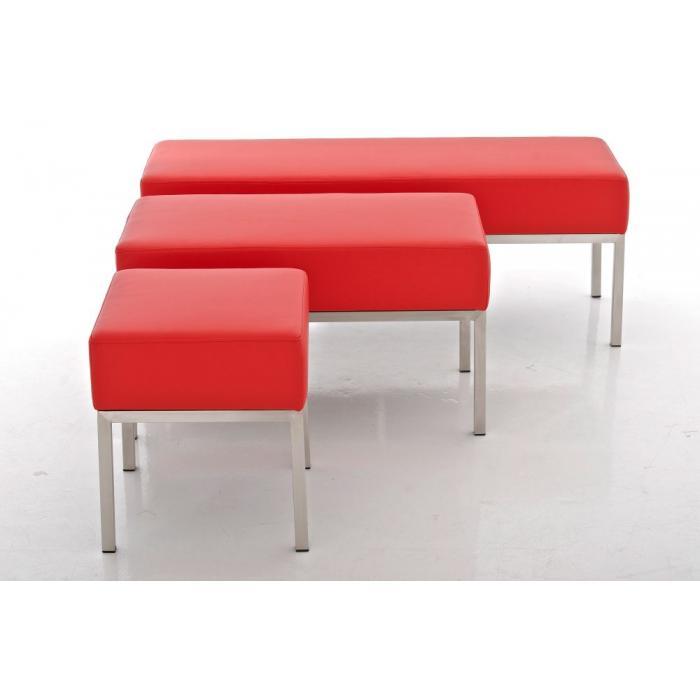 2er sitzbank cp019 polsterbank 40x80cm rot. Black Bedroom Furniture Sets. Home Design Ideas