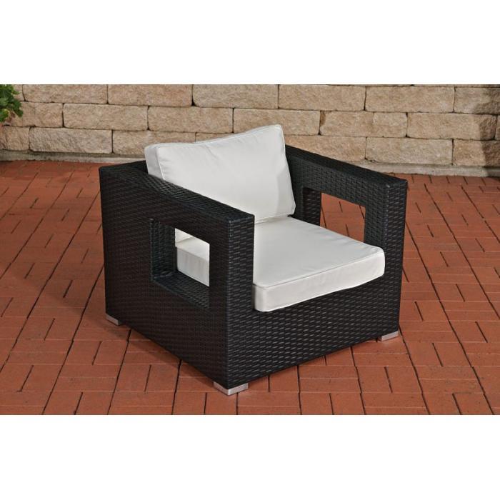 gartensessel cp051 sessel poly rattan schwarz. Black Bedroom Furniture Sets. Home Design Ideas