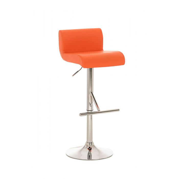 Barhocker barstuhl california kunstleder orange for Barhocker orange