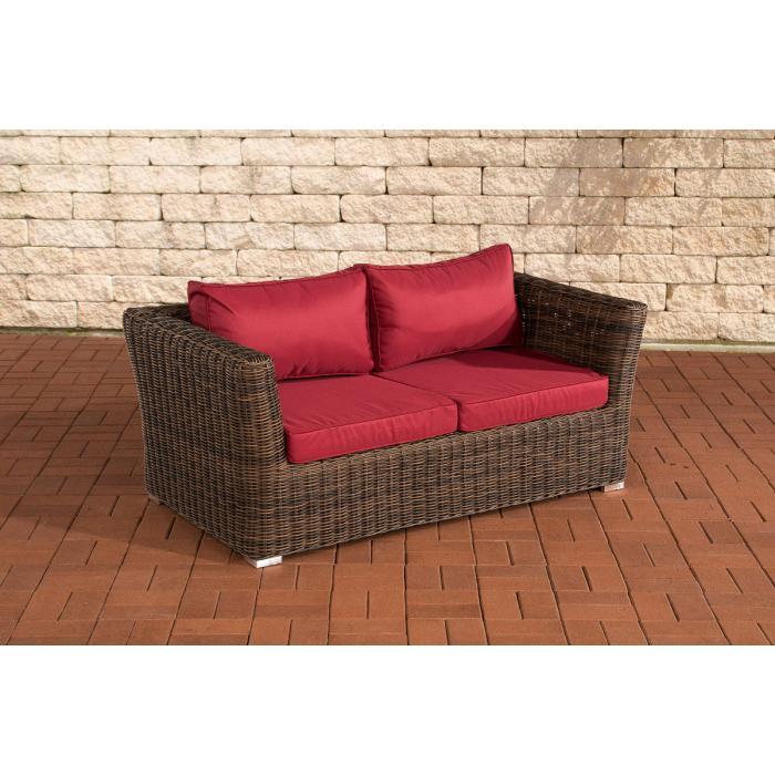 2er sofa 2 sitzer sousse poly rattan braun meliert in. Black Bedroom Furniture Sets. Home Design Ideas