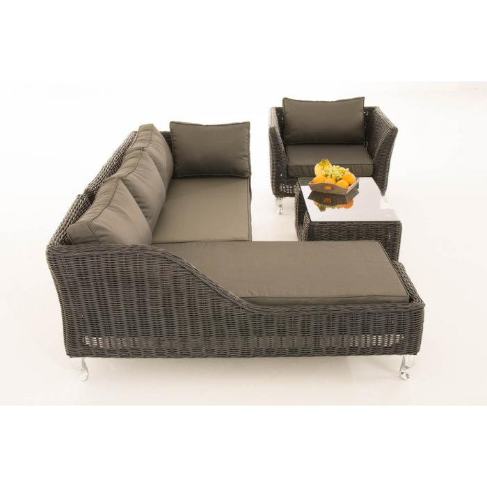 sofa garnitur cp055 lounge set gartengarnitur poly rattan kissen anthrazit schwarz. Black Bedroom Furniture Sets. Home Design Ideas
