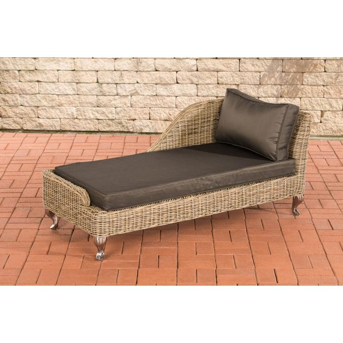 recamiere cp055 liege poly rattan kissen anthrazit natur. Black Bedroom Furniture Sets. Home Design Ideas