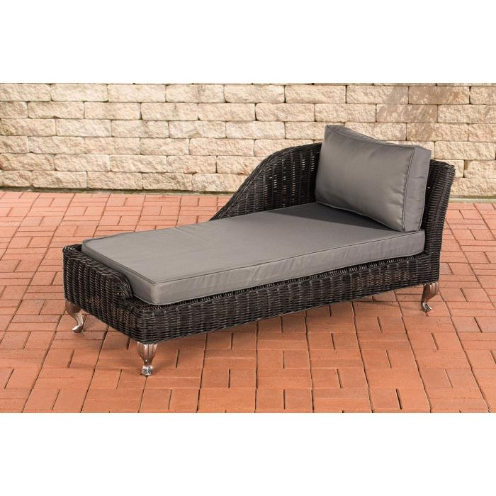 recamiere cp055 liege poly rattan kissen eisengrau schwarz. Black Bedroom Furniture Sets. Home Design Ideas