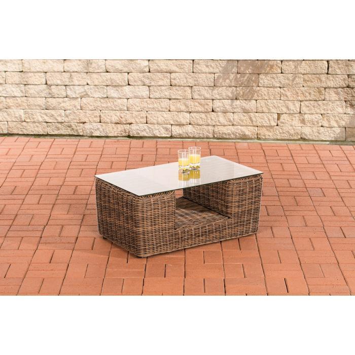 gartentisch cp055 beistelltisch poly rattan braun meliert. Black Bedroom Furniture Sets. Home Design Ideas