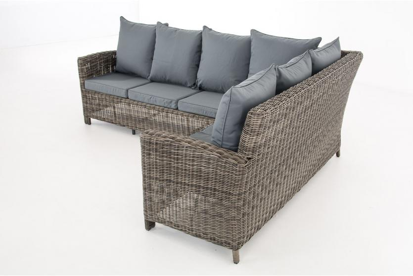 sofa garnitur cp056 lounge set gartengarnitur poly rattan kissen eisengrau grau meliert. Black Bedroom Furniture Sets. Home Design Ideas