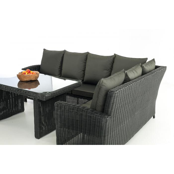 sofa garnitur cp056 lounge set gartengarnitur poly rattan kissen anthrazit schwarz. Black Bedroom Furniture Sets. Home Design Ideas