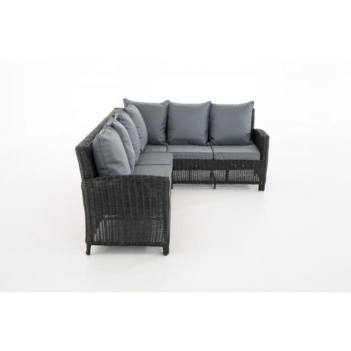sofa garnitur cp056 lounge set gartengarnitur poly rattan kissen eisengrau schwarz. Black Bedroom Furniture Sets. Home Design Ideas