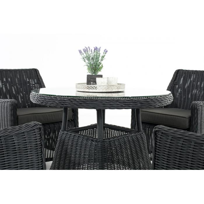 poly rattan sitzgruppe cp402 gartengarnitur lounge set schwarz kissen anthrazit. Black Bedroom Furniture Sets. Home Design Ideas