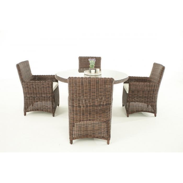 poly rattan sitzgruppe cp413 gartengarnitur lounge set braun meliert kissen creme. Black Bedroom Furniture Sets. Home Design Ideas
