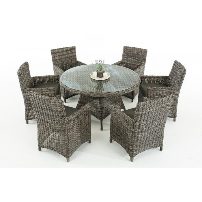 garten garnitur cp072 sitzgruppe lounge garnitur poly rattan kissen anthrazit grau meliert. Black Bedroom Furniture Sets. Home Design Ideas