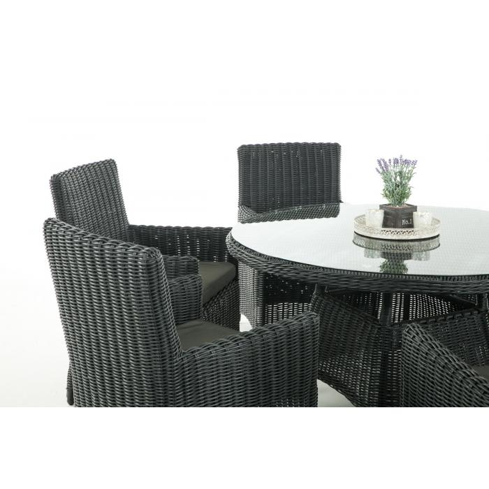 garten garnitur cp072 sitzgruppe lounge garnitur poly rattan kissen anthrazit schwarz. Black Bedroom Furniture Sets. Home Design Ideas