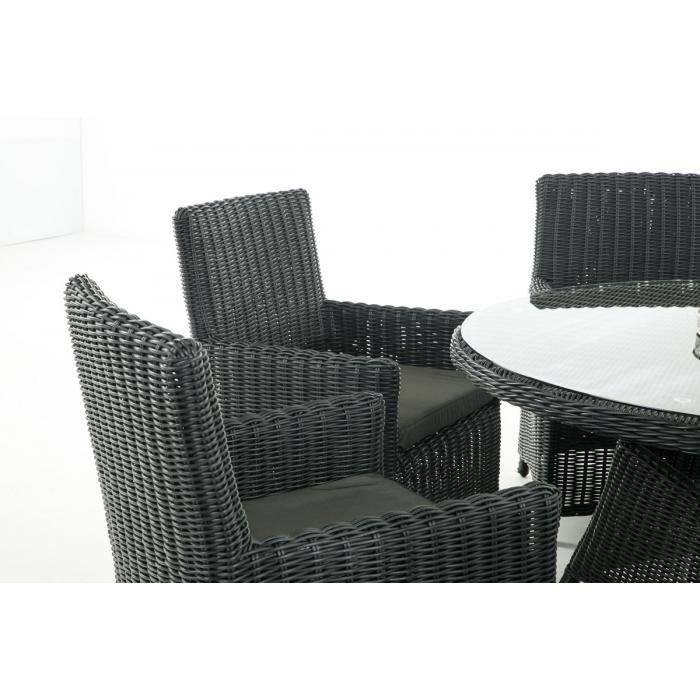 garten garnitur cp072 sitzgruppe lounge garnitur poly rattan kissen anthrazit schwarz. Black Bedroom Furniture Sets. Home Design Ideas