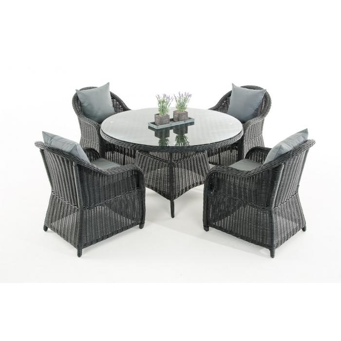 garten garnitur cp070 sitzgruppe lounge garnitur poly rattan kissen eisengrau schwarz. Black Bedroom Furniture Sets. Home Design Ideas