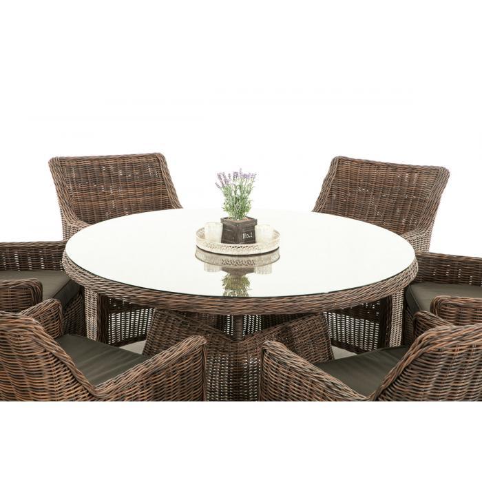 garten garnitur cp069 sitzgruppe lounge garnitur poly rattan kissen anthrazit braun meliert. Black Bedroom Furniture Sets. Home Design Ideas
