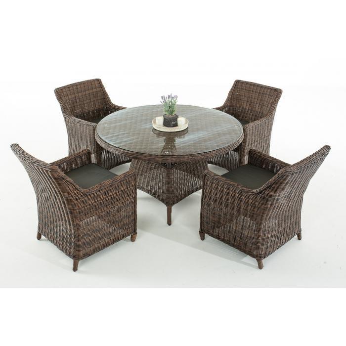 garten garnitur cp064 sitzgruppe lounge garnitur poly rattan kissen anthrazit braun meliert. Black Bedroom Furniture Sets. Home Design Ideas