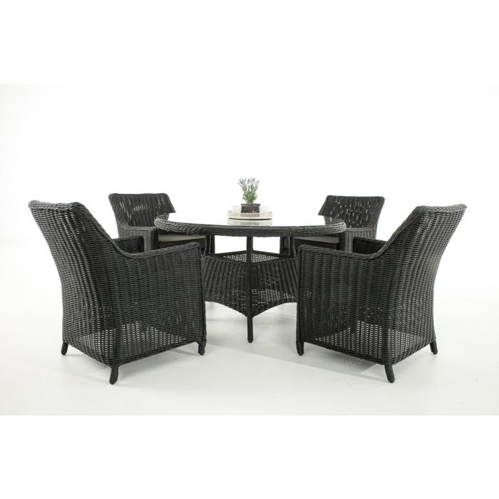 garten garnitur cp064 sitzgruppe lounge garnitur poly rattan kissen anthrazit schwarz. Black Bedroom Furniture Sets. Home Design Ideas