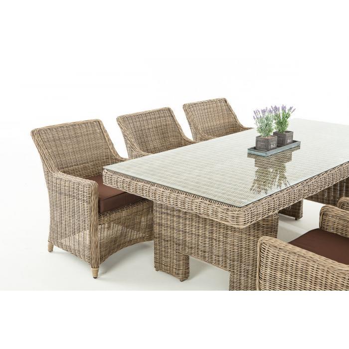 sitzgruppe cp060 sitzgarnitur poly rattan kissen terrabraun natur. Black Bedroom Furniture Sets. Home Design Ideas