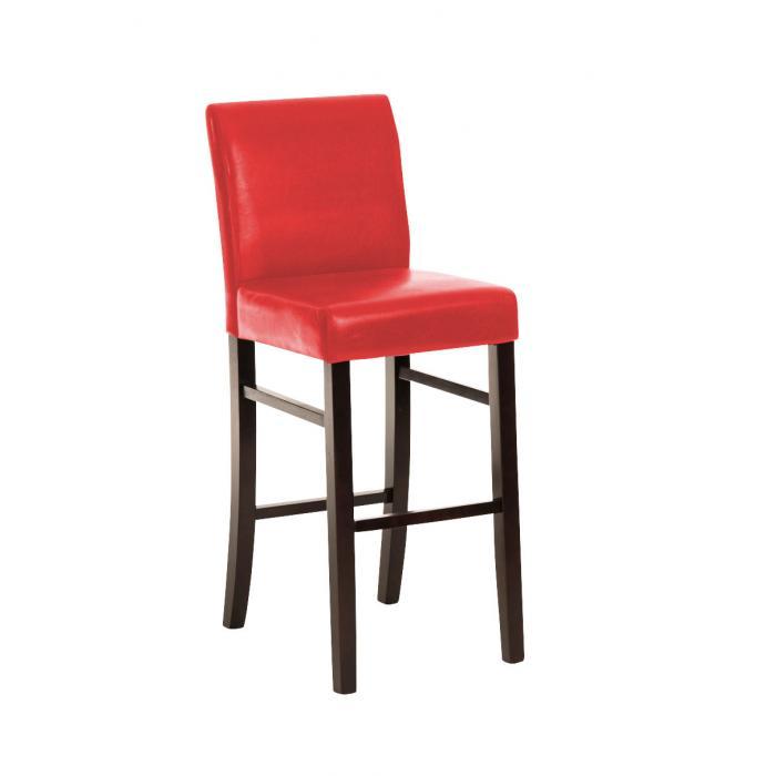 barhocker cp162 barstuhl gestell braun rot. Black Bedroom Furniture Sets. Home Design Ideas