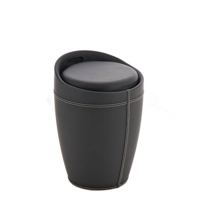 sitzhocker cp206 hocker mit stauraum schwarz. Black Bedroom Furniture Sets. Home Design Ideas