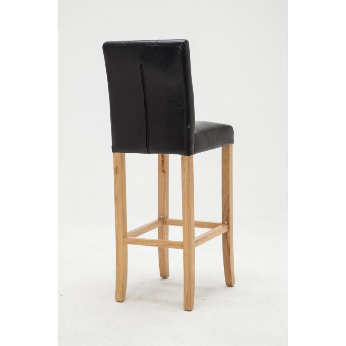 barhocker cp577 barstuhl 115x39x46cm kunstleder gestell natur schwarz. Black Bedroom Furniture Sets. Home Design Ideas