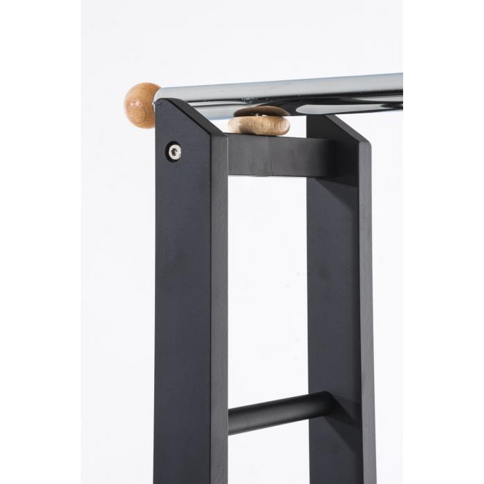 garderobenst nder cp624 kleiderst nder standgarderobe mit rollen schwarz. Black Bedroom Furniture Sets. Home Design Ideas
