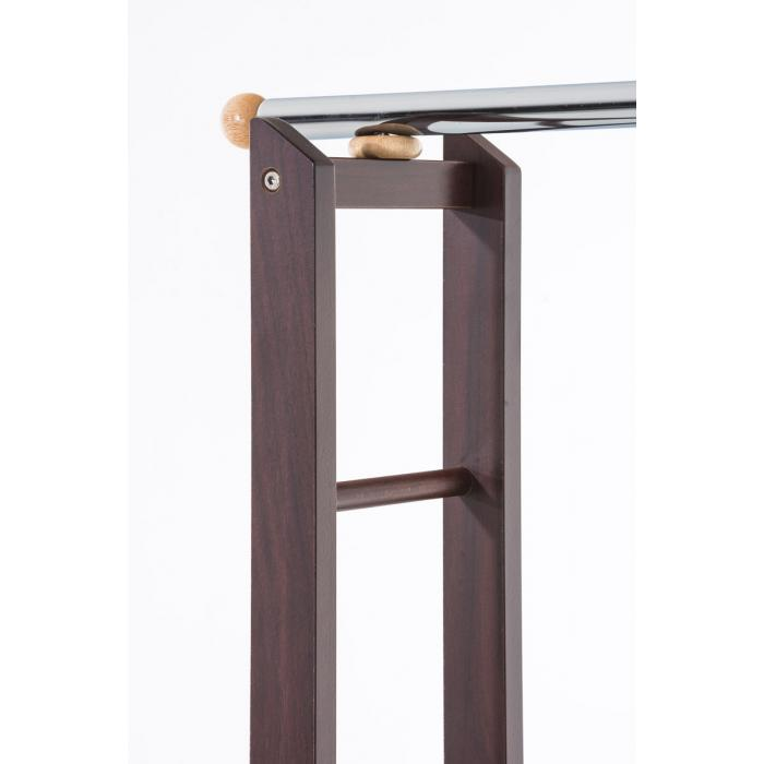 garderobenst nder cp624 kleiderst nder standgarderobe mit rollen kirsch. Black Bedroom Furniture Sets. Home Design Ideas