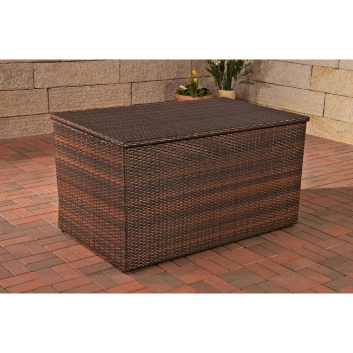 auflagenbox kissenbox gartentruhe xl polyrattan braun meliert. Black Bedroom Furniture Sets. Home Design Ideas