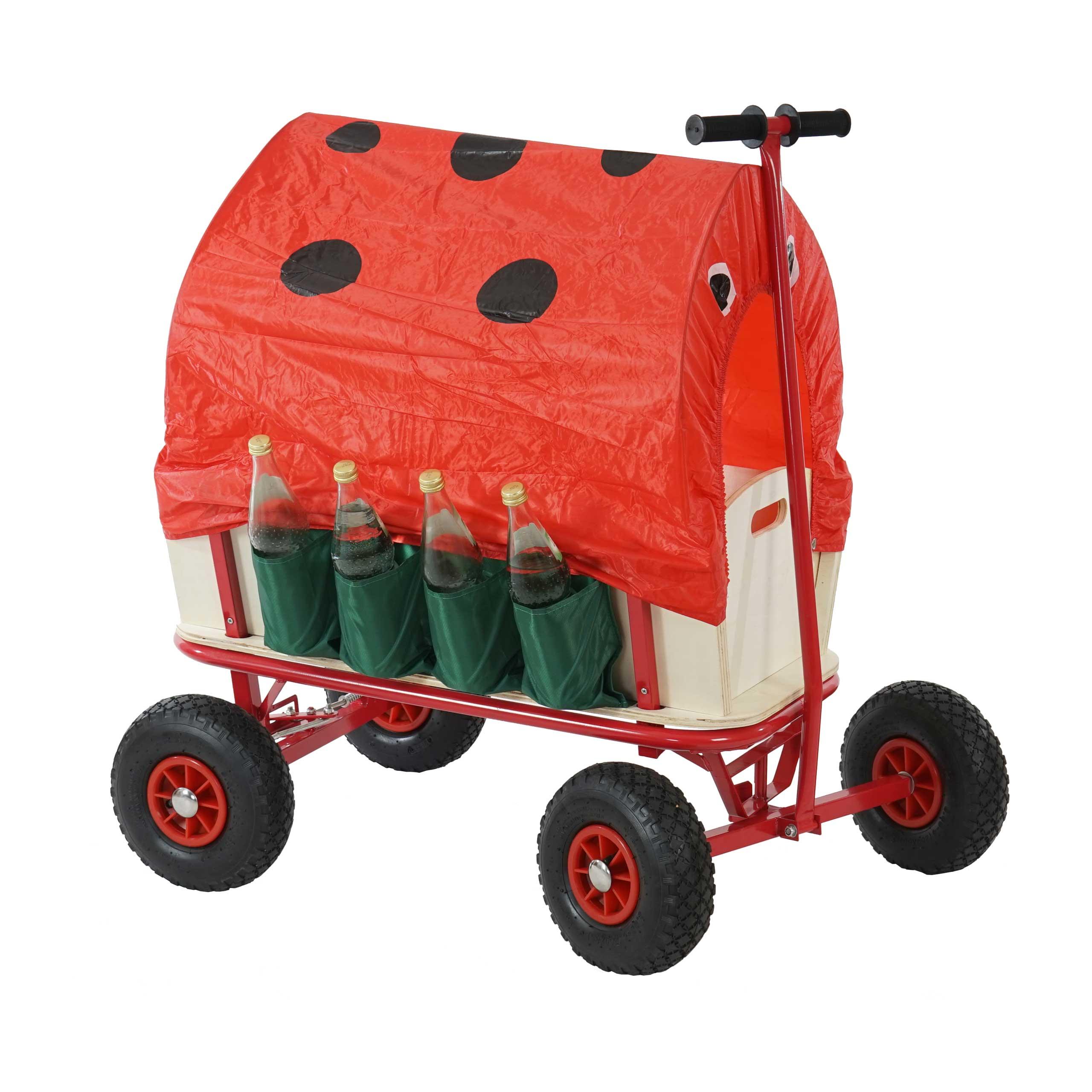 bollerwagen mit flaschenhalter handwagen leiterwagen opt mit bremse sitz dach. Black Bedroom Furniture Sets. Home Design Ideas