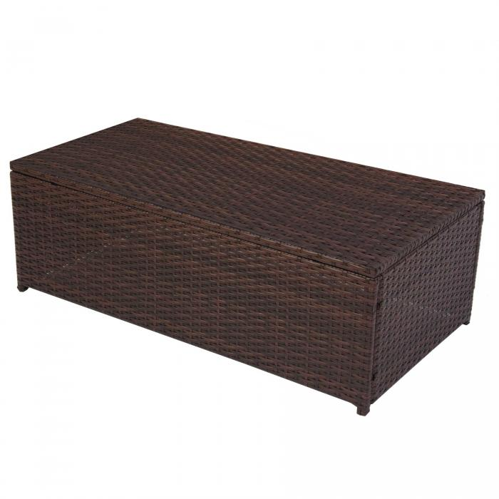 modulares poly rattan alu sofa romv 37x111x58cm braun couchtisch pe platte. Black Bedroom Furniture Sets. Home Design Ideas