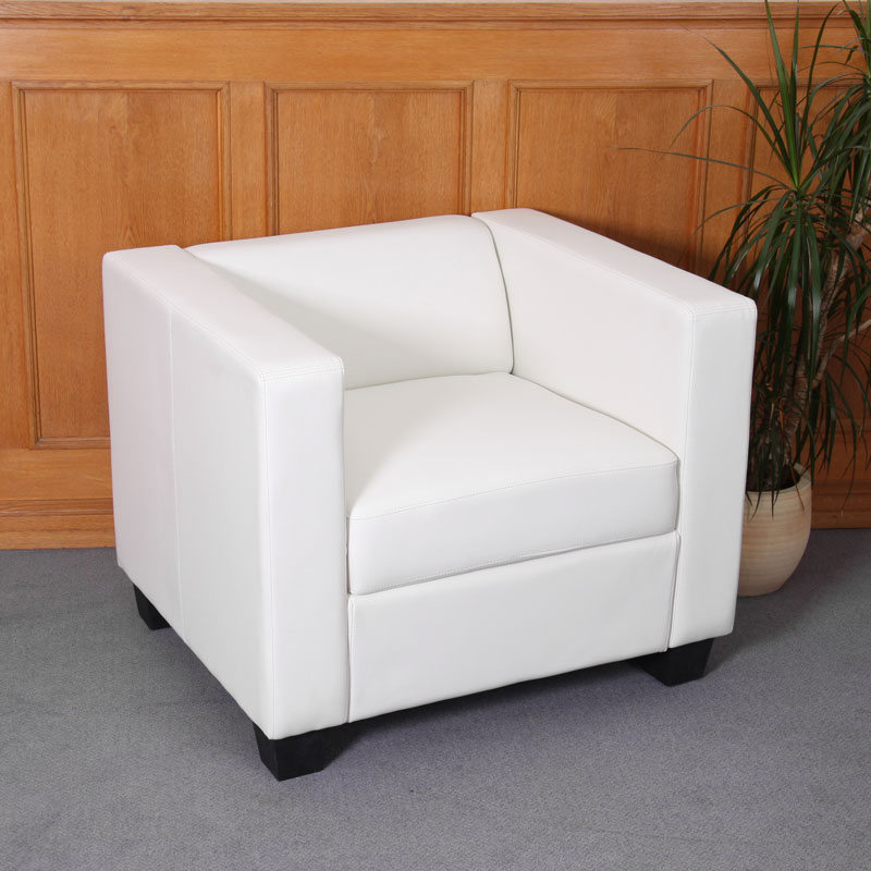 Loungesessel weiß  Sessel Loungesessel Lille Kunstleder Leder Mikrofaser Textil | eBay