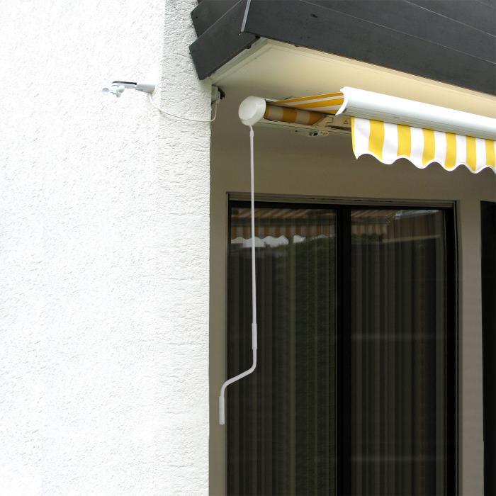 handkurbel f r markisen markisenkurbel kurbel 150cm wei. Black Bedroom Furniture Sets. Home Design Ideas