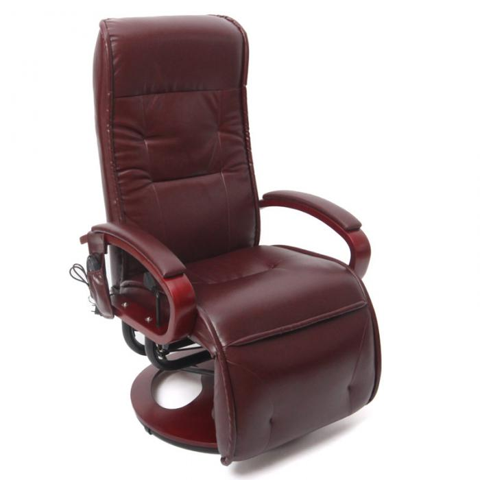 relaxliege arles ii relaxsessel massagesessel mit massage kunstleder bordeauxrot. Black Bedroom Furniture Sets. Home Design Ideas