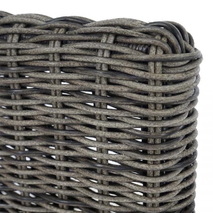 2x poly rattan gartenstuhl palma ii stapelstuhl rattanstuhl inkl sitzkissen naturgrau. Black Bedroom Furniture Sets. Home Design Ideas